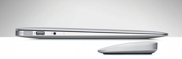 Vom Design her ist die Ultrathin Touch Mouse T630 exakt auf keilförmige Ultrabooks und MacBooks abgestimmt.