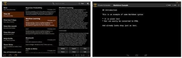 Write bringt eine ablenkungsfreie Oberfläche zum Schreiben auf euer Android-Tablet. (Screenshots: Play Store)