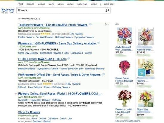 "Die neuen ""Product Ads"" (Screenshot: Microsoft)"