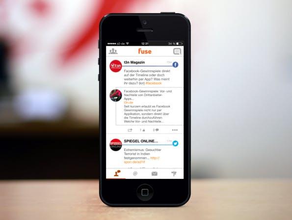 Schluss mit Unordnung: Fuse eint die wichtigsten Social Networks in einer App. (Foto: PlaceIt)