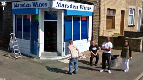 Manch Eingeweihter hält offensichtlich nicht viel von Google Street View. Screenshot: thatsright.com