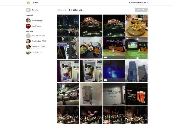 Loom ermöglichte es, Foto-Bestände zwischen Smartphone, Tablet, PC und Cloud zu synchronisieren.