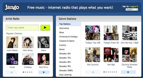 musikstreaming-dienste jango