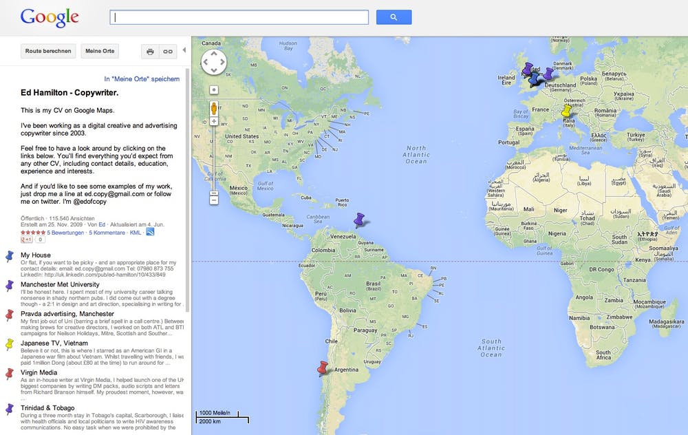 online-lebenslauf google maps | t3n – digital pioneers