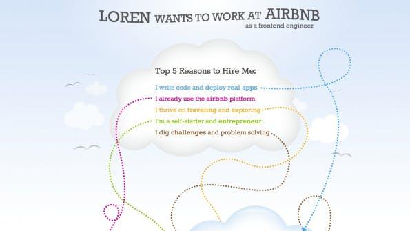 Eine Website mit Online-Lebenslauf, die individuell auf den Wunscharbeitgeber zugeschnitten ist, kommt besonder gut an. (Bild: lorenburton.com)