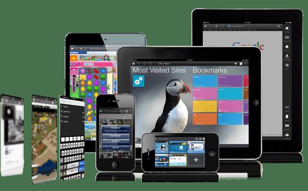 Der mobile Browser Puffin ist sowohl für iOS als auch Android erhältlich. Screenshot: Puffin