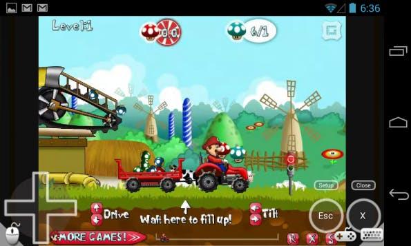 Eines der Features von Puffin ist ein virtuelles Gamepad für Browser-Spiele. Screenshot: Play Store