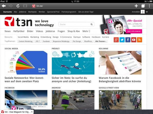 Puffin setzt auf die Cloud, um Webseiten auf mobilen Endgeräten schnell anzuzeigen. Das weckt Bedenken bezüglich der Privatsphäre des Nutzers.