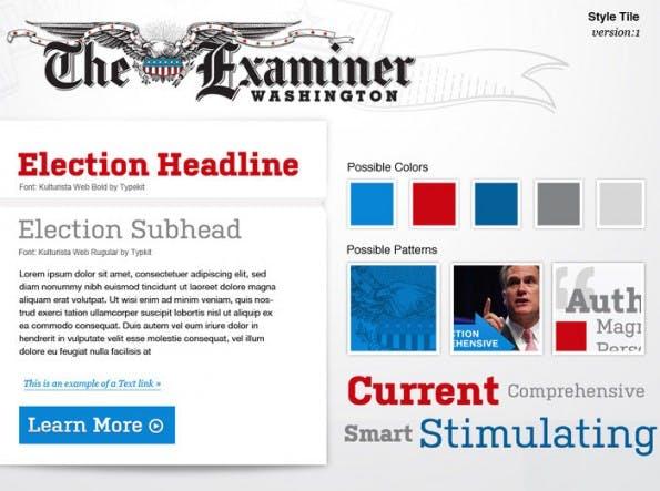 Style Tiles: So könnte eine geplante Webseite aussehen. (Screenshots: Style Tiles)