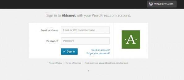 WordPress.com Connect: So soll auch auf anderen Webseiten der Login-Screen aussehen können. (Screenshot: Akismet)