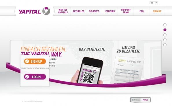Die Multichannel-Payment-Lösung Yapital startet durch. (Screenshot: Yapital)