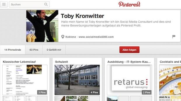 Online-Bewerbung: Wie man sein Pinterest-Board zum Lebenslauf macht
