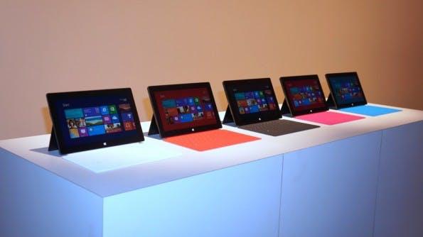 Der erhoffte Erfolg der Surface-Tablets –aktuell radikal im Preis gesenkt – blieb bisher aus.