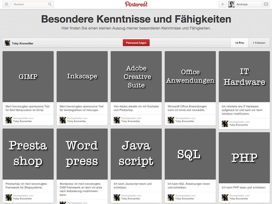Online Bewerbungen Pinterest7 T3n Digital Pioneers