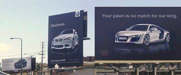 Es folgte die Antwort Antwort von Audi, die mit viel Geschick für Aufmerksamkeit sorgte. (Quelle: Quora)