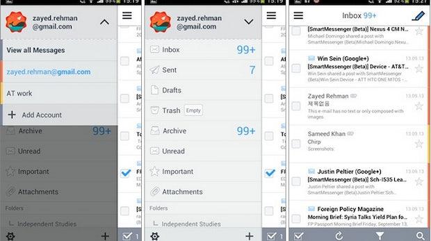 SolMail: Kostenlose Mail-App mit Dateimanager für Android