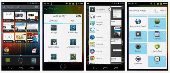 ADW Launcher: Vermutlich der Klassiker unter den Android-Launchern. (Screenshots: Google Play Store)