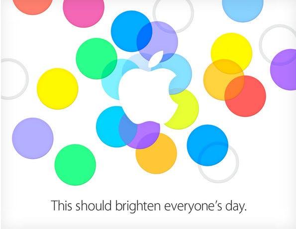 Apple-Event am 10. September: Die Einladung deutet auf iPhone 5C und iOS 7 hin. (Bild: Apple)