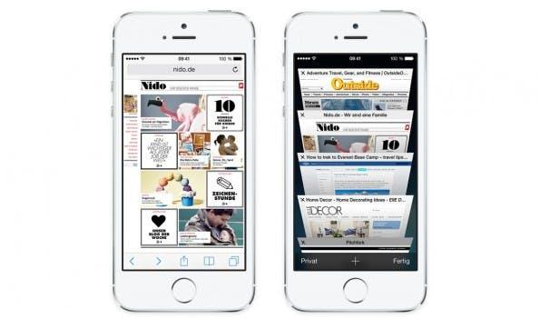 Der Safari-Browser glänzt unter iOS 7 mit einigen nützlichen, neuen Funktionen. (Bild: Apple)