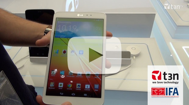 LG G Pad 8.3: 8-Zoll-Tablet mit praktischen Software-Features [IFA 2013]