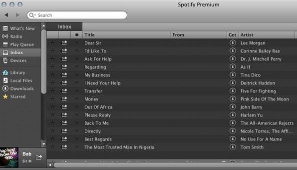Spotify: So habt ihr den Nigeria-Scam wohl noch nicht erlebt. (Screenshot: Adweek)