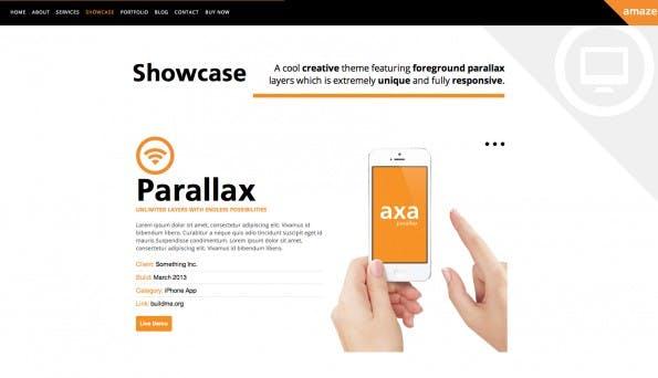 Parallax Theme: Amaze