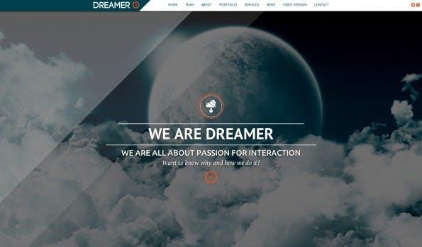 Parallax Theme: Dreamer