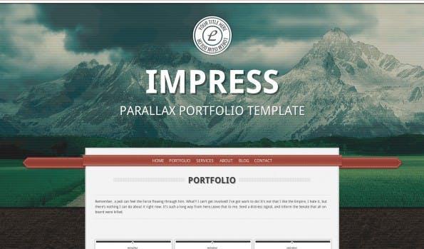 Parallax Theme: Impress