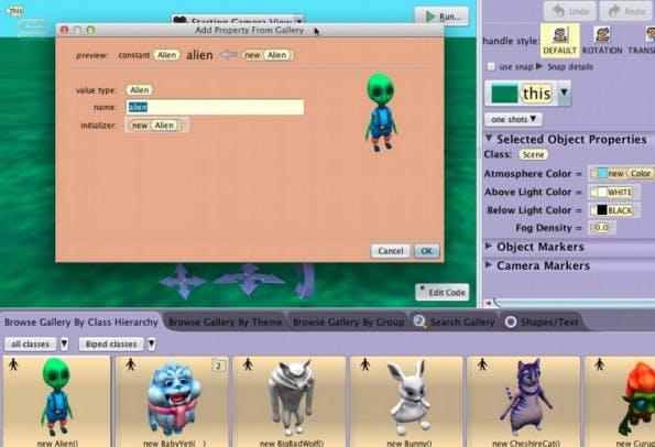 Mit Alice werden 3D-Geschichten programmiert. (Screenshot: Alice)