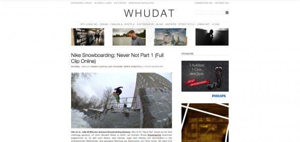 Mathias Winks bloggt auf whudat.de. (Screenshot: Whudat)
