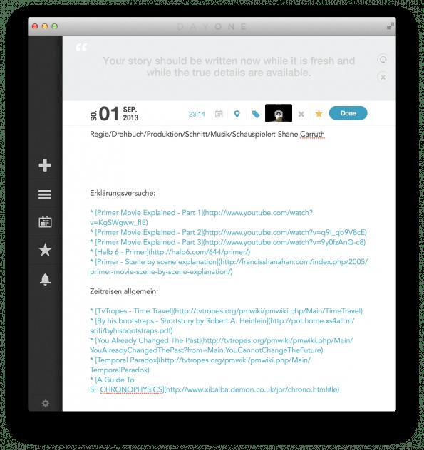 Anstatt Beiträge für Day One manuell zu verfassen hilft Slogger dabei, diesen Vorgang zu automatisieren.