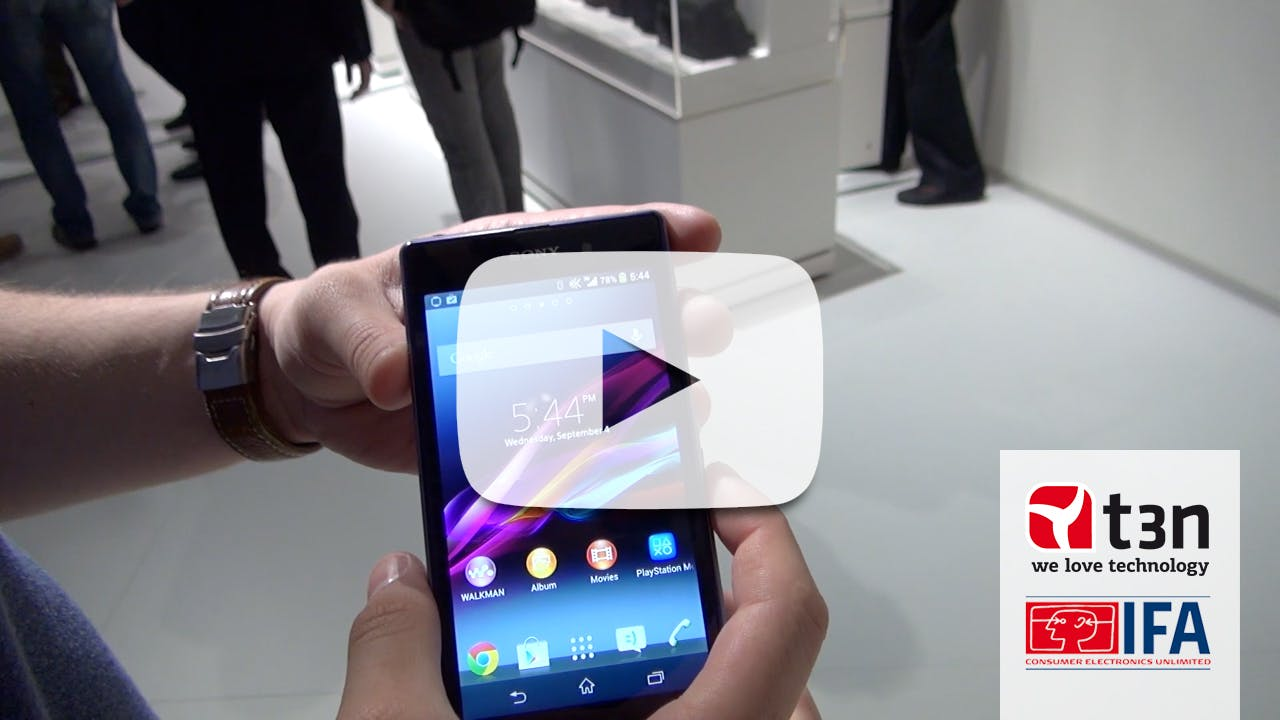 Xperia Z1: Sonys neues Flaggschiff im Hands-On-Video [IFA 2013]