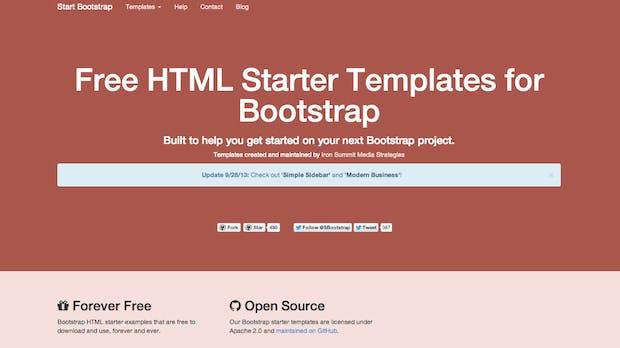 Start Bootstrap: Kostenfreie Vorlagen für euer nächstes Projekt