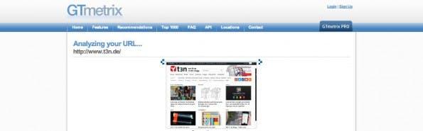 GTMetrix vereint die beiden ersten Tools zur Geschwindigkeitsoptimierung. (Screenshot: GTmetrix)
