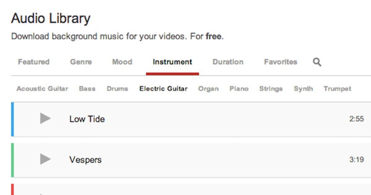 YouTube startet Bibliothek für lizenzfreie und kostenlose Musik ...
