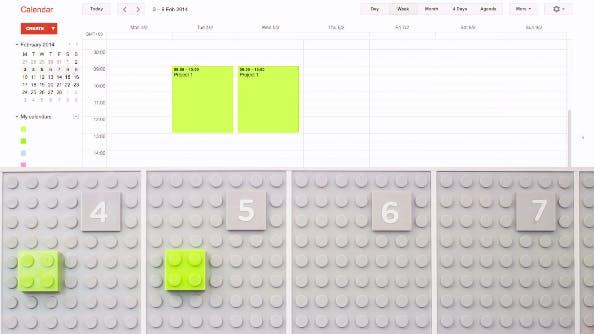 Cooler LEGO-Wandplaner synchronisiert sich mit deinem Google-Kalender
