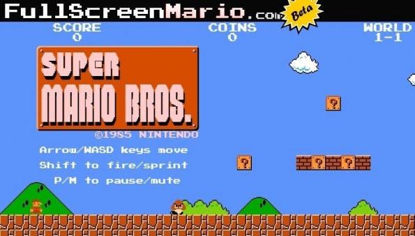 Retro-Game: Super Mario Bros. 1