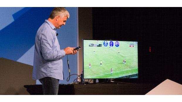 Mit der App Rabbit sollen Nutzer zukünftig gemeinsam über das Internet fernsehen können. (Bild: Moritz Stückler)