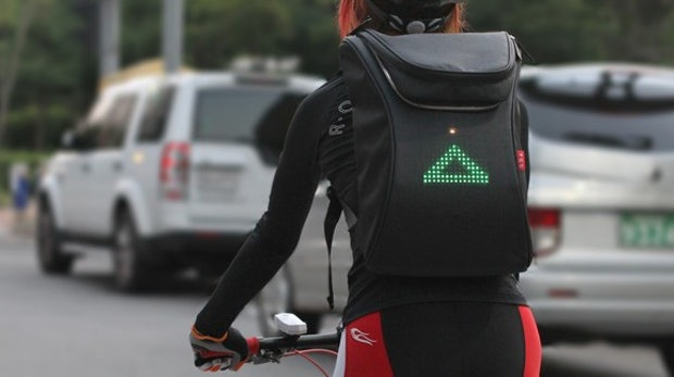 High-Tech auf dem Rücken: Der Seil Bag macht Radfahren sicherer