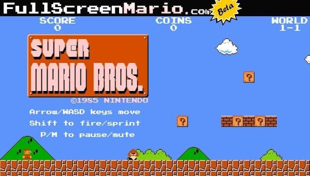 """HTML5-Remake: Super Mario Bros. als Browserversion im """"Full-Screen""""-Modus spielen"""