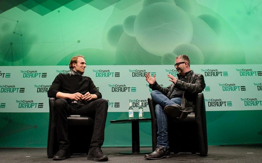 """Marc Samwer auf der TechCrunch Disrupt in Berlin: """"Eine Idee ist die Kombination mehrerer Dinge"""". (Bild: TechCrunch)"""