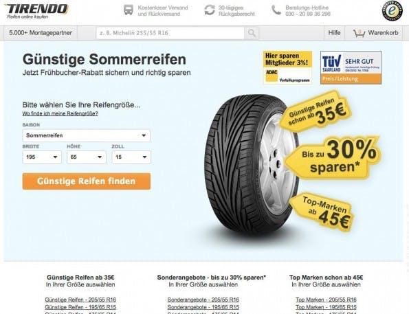 """Eine Variation, optimiert auf Besucher mit Suchbegriffen wie """"günstige Reifen"""". (Quelle: Optimizely)"""