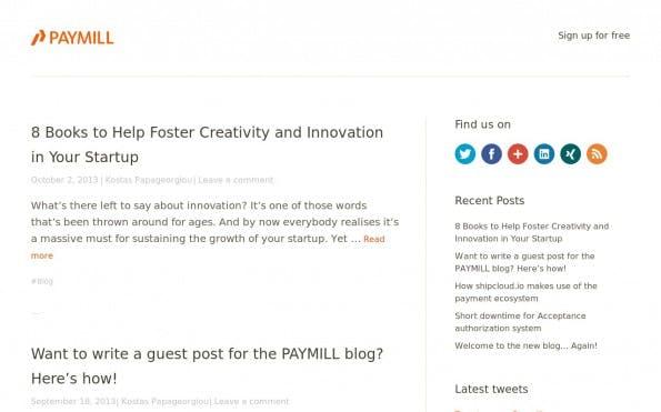 Im Paymill-Blog finden sich Tipps rund um E-Commerce und Payment. (Screenshot: Paymill)