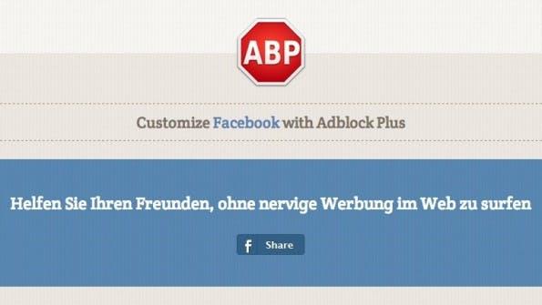 AdBlock Plus blockiert Anzeigen in Newsfeed und Sidebar. (Quelle: facebook.adblockplus.me