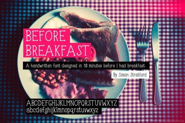 before-breakfast-handschrift-font