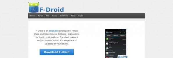 Kostenlose Android-App: Bei F-Droid findet ausschließlich Open-Source-Apps. (Screenshot: F-Droid)