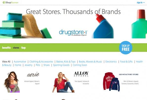 Shoprunner soll zum Amazon-Konkurrenten aufgebaut werden.(Screenshot: Shoprunner)