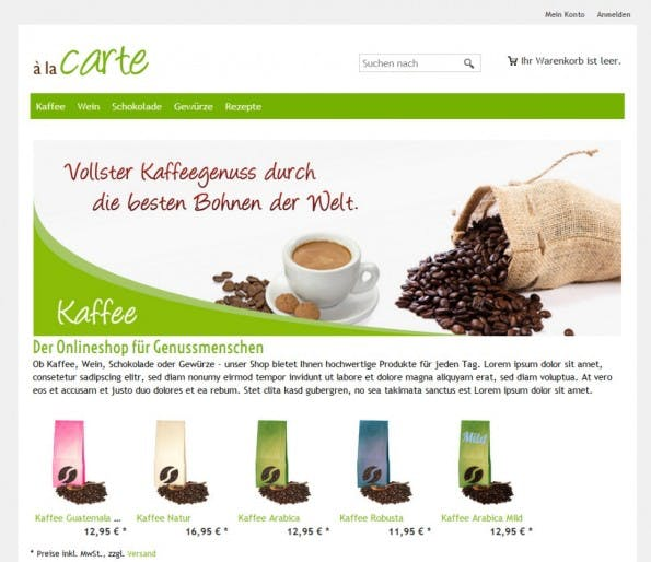 Onlineshop auf Basis von ePages 6.16 (Screenshot: ePages)
