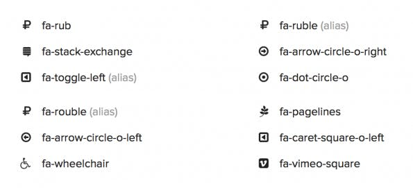 Font Awesome neue Icons