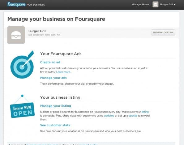 Lokale Geschäfte sollen Foursquare als Werbemaschinerie entdecken. Das Startup rechnet sich monatliche Einnahmen von bis zu 500 US-Dollar pro Werbekunde aus. (Bild: Screenshot/Fast Company)
